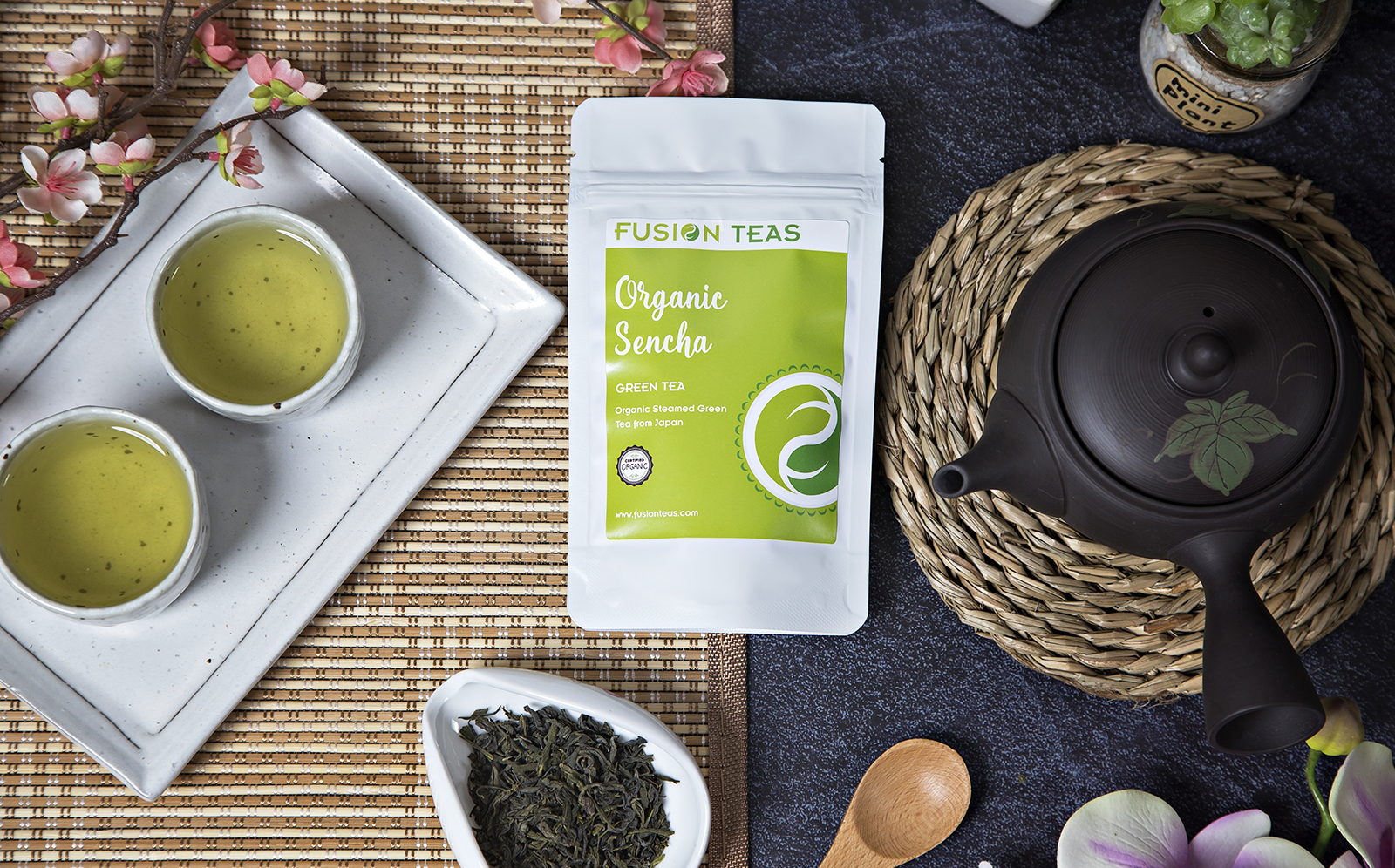 organic sencha pure green tea