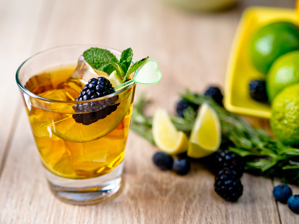 August Tea Spritzer - Summer Tea Cocktails