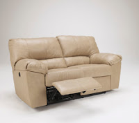 DuraBlend Natural Reclining Loveseat Signature Design by Ashley Furniture