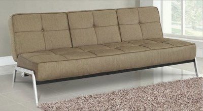 Logan Convertible Sofa Bed Light Brown by Lifestyle