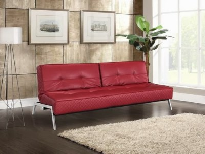 Copenhagen Marquee Convertible Sofa Bed Crimson by Lifestyle