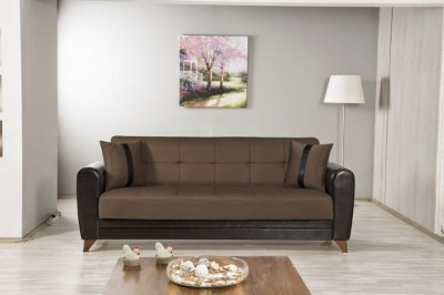 Bella Vista Prusa Brown Convertible Sofa Bed by Casamode