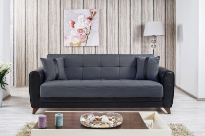 Bella Vista Prusa Gray Convertible Sofa Bed by Casamode