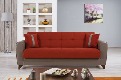 Bella Vista Prusa Orange Convertible Sofa Bed by Casamode