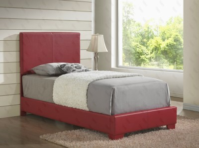 Upholstered Bed Red by Glory Furniture