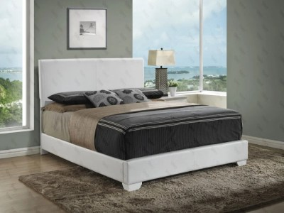 Upholstered Bed White by Glory Furniture