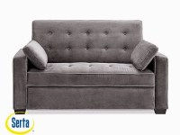 Augustine Convertible Sofa Moon Grey Full by Serta / Lifestyle