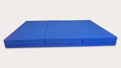Folding Foam Bed/Bench Blue by Comfort Pure
