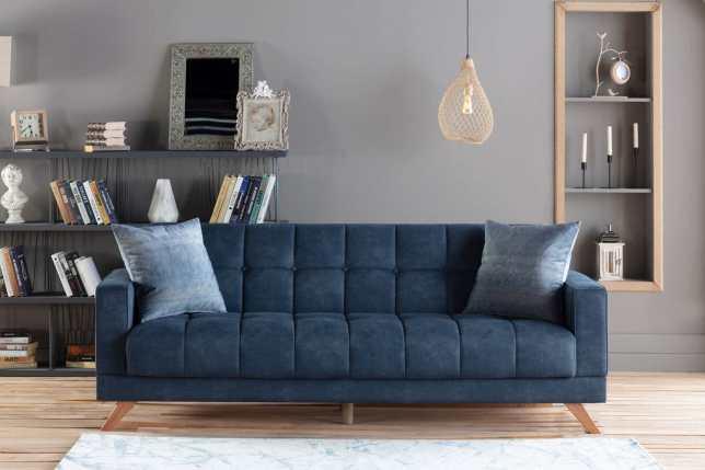 Montana Yakut Navy Convertible Sofa Bed