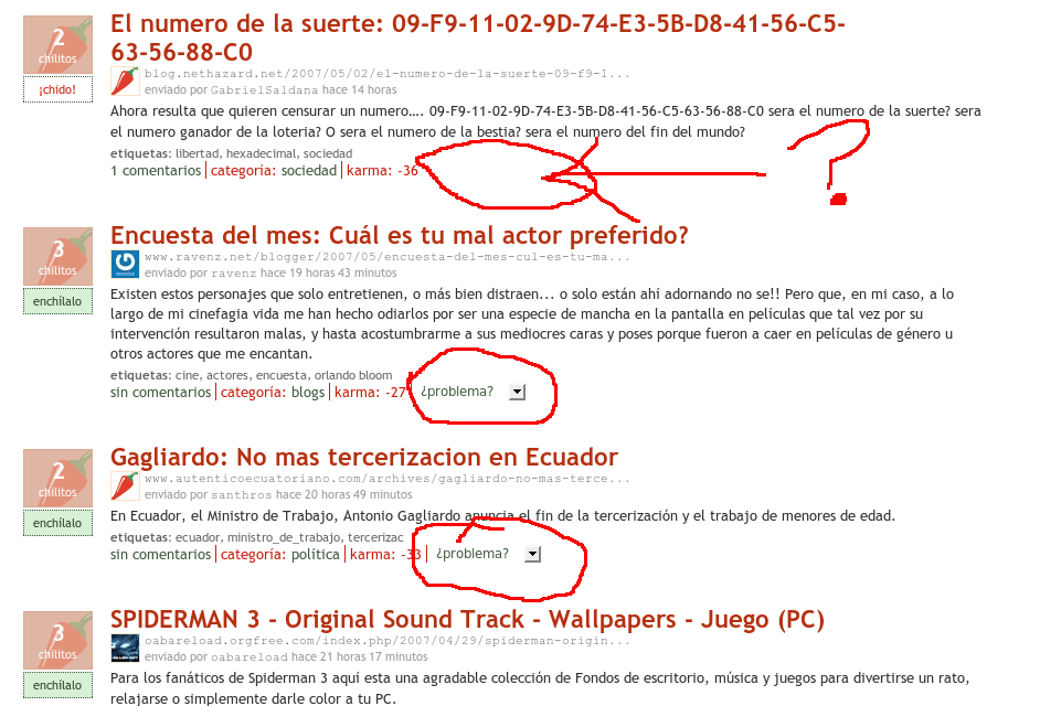 Posible censura en Enchilame.com?