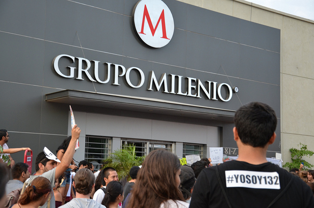 Protest against the media #YoSoy132 in Guadalajara