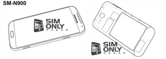 Specifications for Samsung Galaxy Note 3 leaked alongside