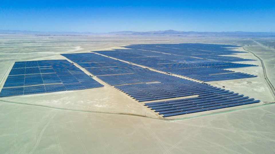 Solar farm in the Atacama Desert in north Chile