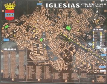 Stadtplan Iglesias