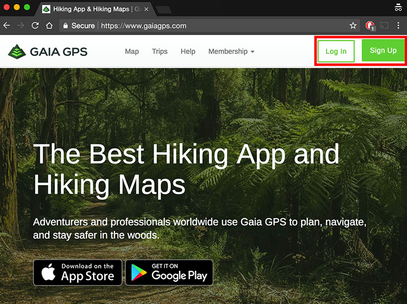 Gaia GPS log in