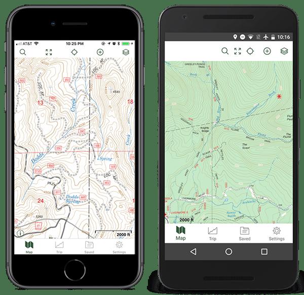 GAIA GPS USFS maps