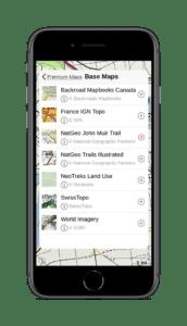 gaia gps natgeo john muir trail base map