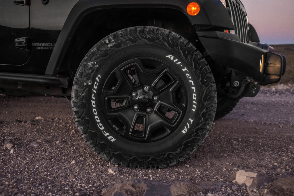 BF Goodrich All Terrain tires on jeep