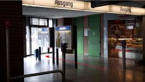 U-Bahnausgang am Partnachplatz