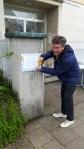 Das provisorische Türschild vom Achtsamkeitszentrum München