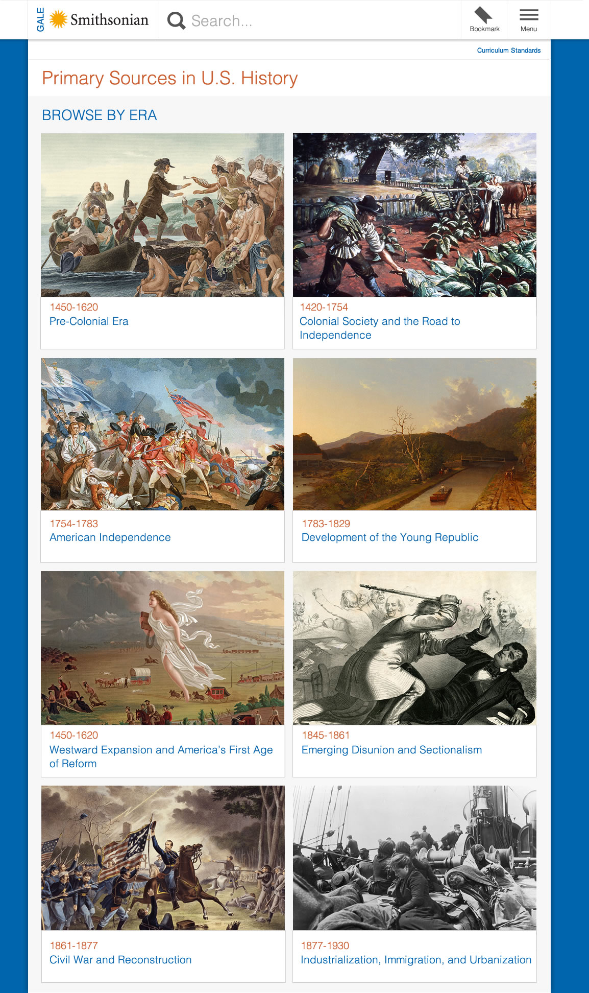 New Smithsonian Primary Sources In U S History Lively