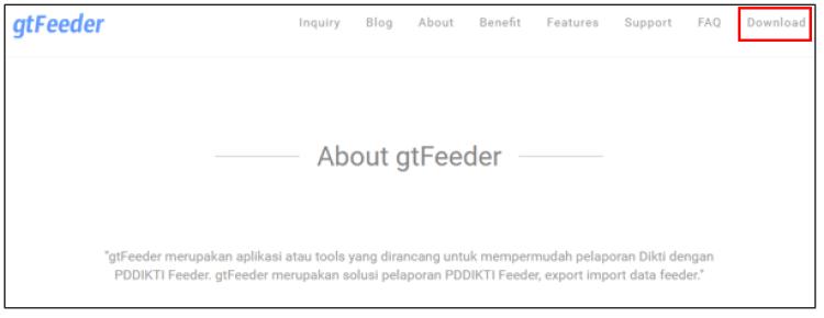 feeder dikti PDDIKTI halaman awal gtFeeder
