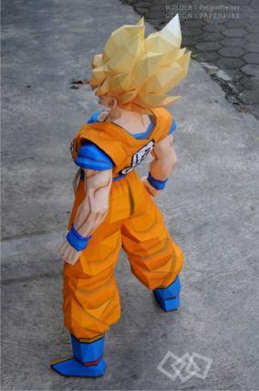 papercraft-dragonball-z-Goku2