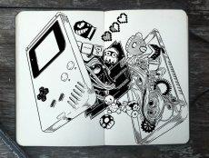 L'intérieur d'une GameBoy - 365 Days of Doodles