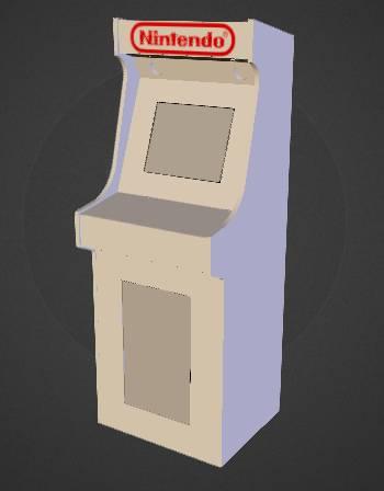 Borne arcade virtua-flipper / plan