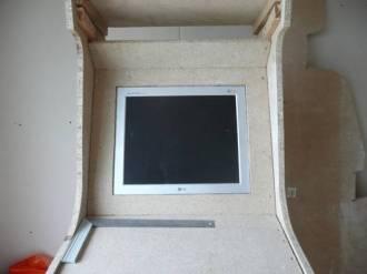 Borne arcade virtua-flipper / écran