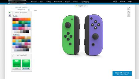 Configurateur Nintendo Switch Joy Con Colorware