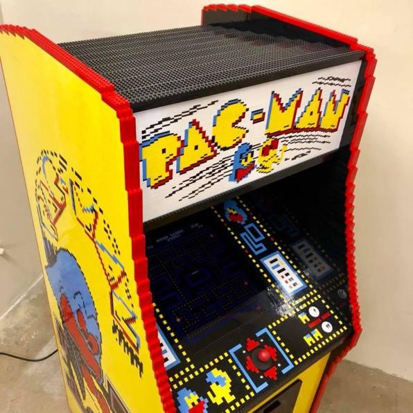 borne arcade PAC-MAN LEGO - Nathan Sawaya - Recalbox