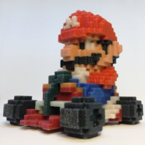 impression 3d personnage jeu video 2d - Mario Kart