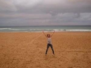 Jane embraces the gorgeous beaches of Sydney.