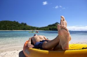 Relaxing in Fiji