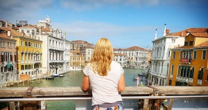 Looking out at Venice