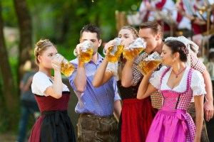 Drinking steins at Oktoberfest