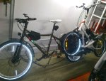 Transport des Streetsteppers mittels Big Dummy Fahrrad