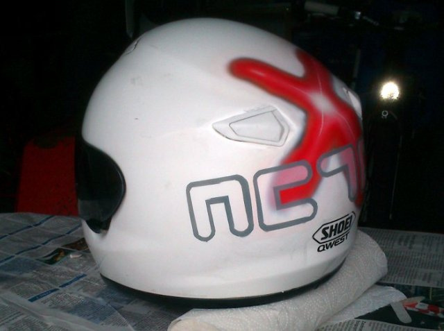 Shoei Qwest Airbrush NC700X Logo
