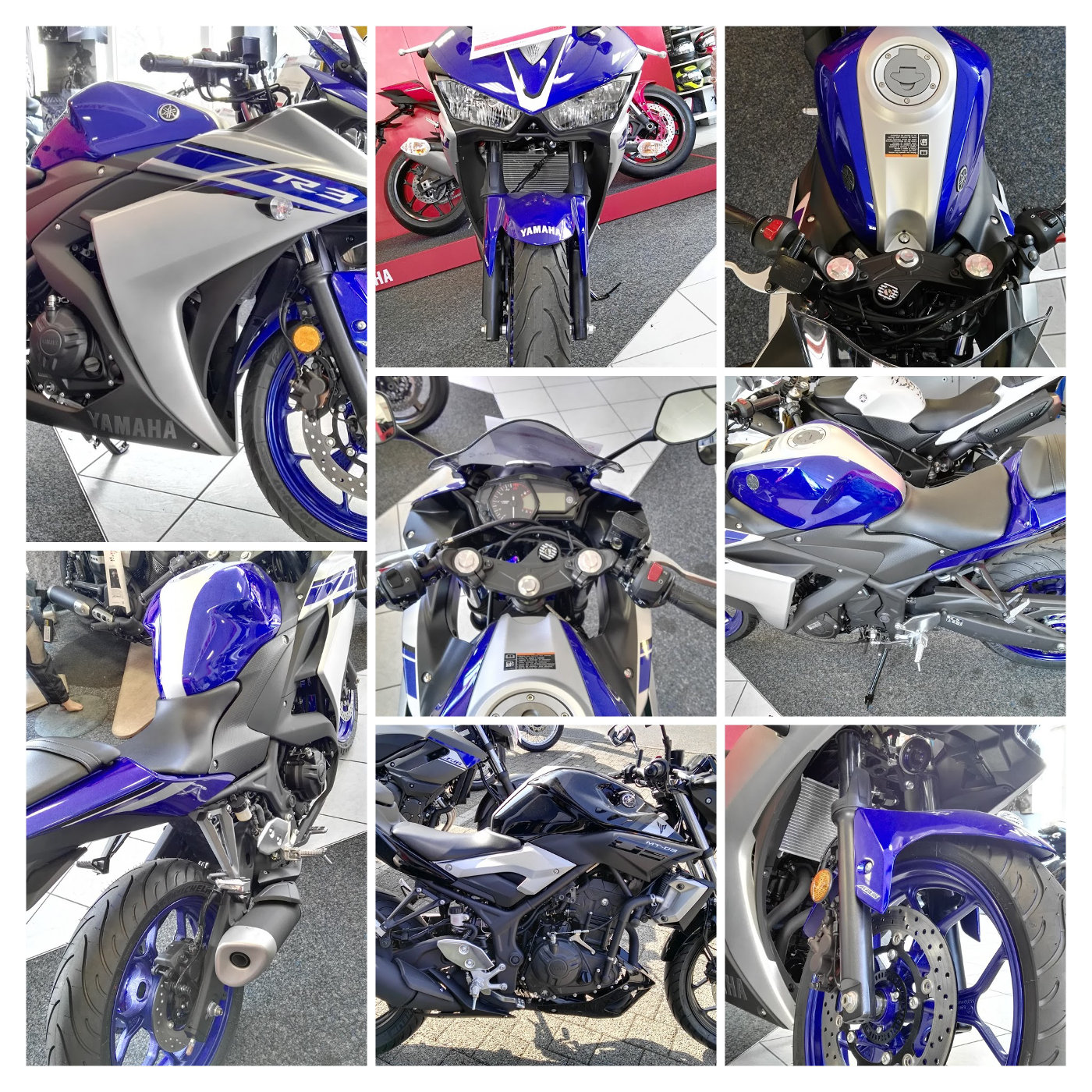 Yamaha YZF R3 2016 blau