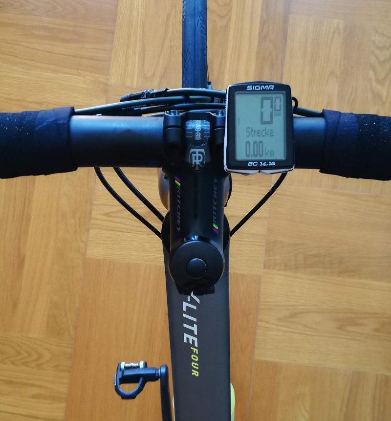 Datarecording am Fahrrad - Sigma BC14.16