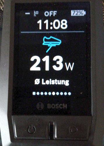 Bosch Kiox Anzeige Eigenleistung-Durchschnitt