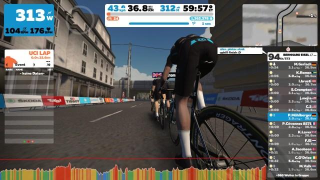 Zwift Screenshot: Corona Ride Austria mit Bernhard Eisel