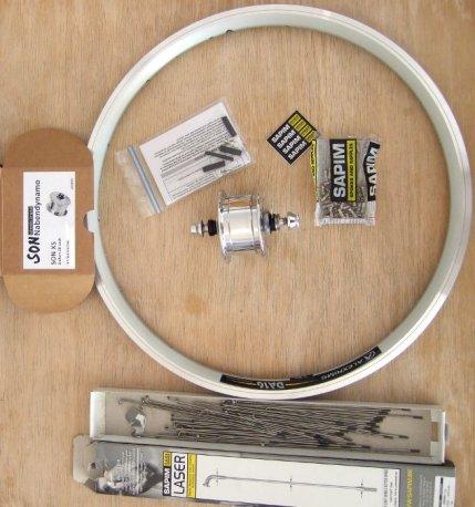 SON XS Nabendynamo Laufrad für Tern Verge X10