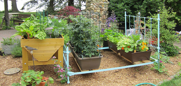 Make A Raised Bed From An Old Bed Frame Gardeners Journal