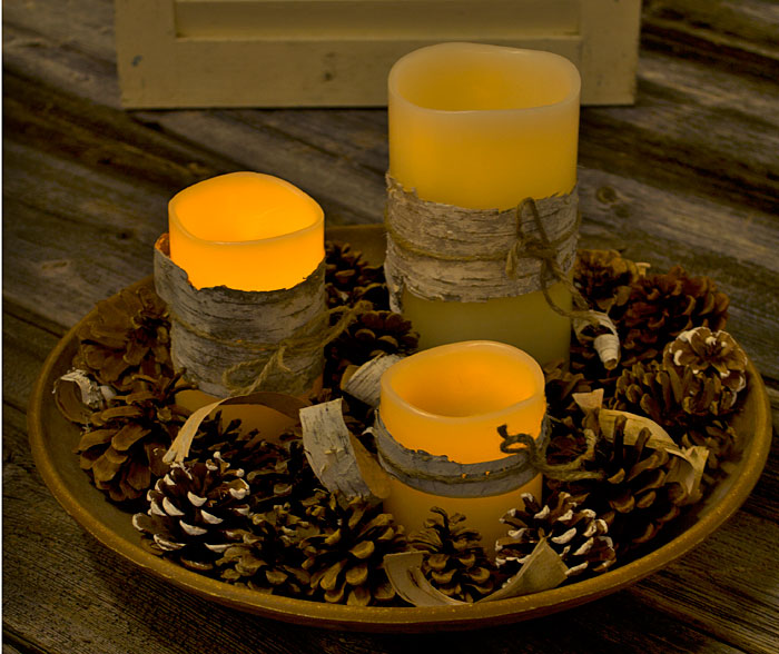 Use Led Candles To Create A Safe Centerpiece