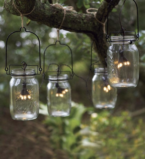 Geranium with solar light mother's day gift. 10 Ideas For Outdoor Mason Jar Lights To Add A Romantic Glow To Your Patio Garden Lovers Club