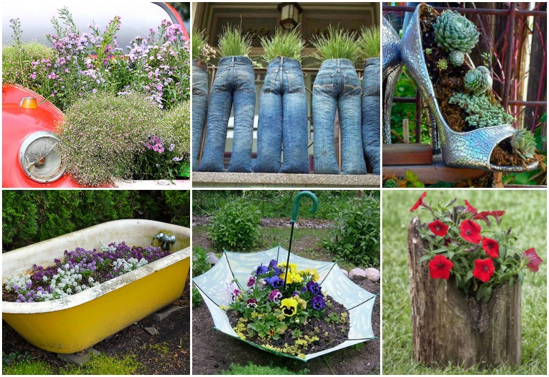 20 Out Of The Ordinary Recycled Garden Planters Garden