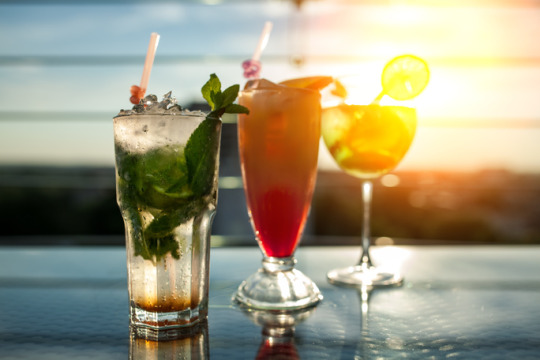 herbs with drinks