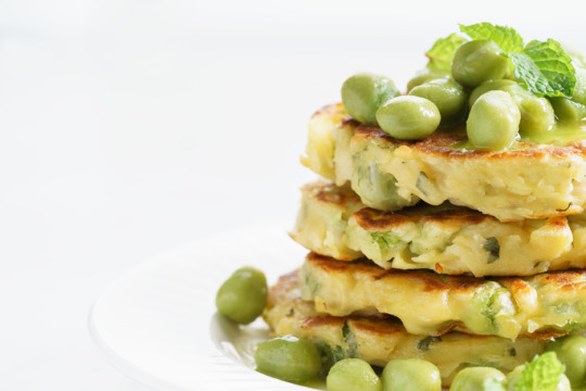 green pea mint and ricotta fritters